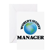 World's Sexiest Manager Greeting Cards