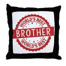 World's Best Brother Throw Pillow