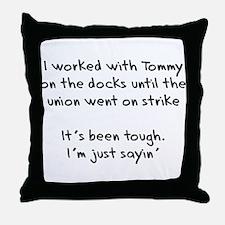 On the Docks Throw Pillow