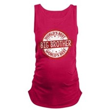 World's Best Big Brother Maternity Tank Top