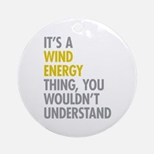 Wind Energy Thing Ornament (Round)