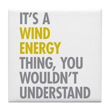 Wind Energy Thing Tile Coaster
