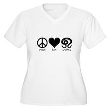 Peace Love & Snakes Women's Plus Size T-Shirt