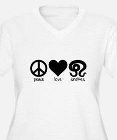 Peace Love & Snakes Women's Plus Size T-Shirt