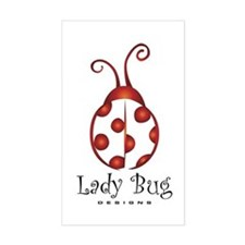 LBDesigns Classic Ladybug Rectangle Decal