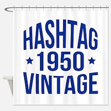 1950 Hashtag Vintage Shower Curtain