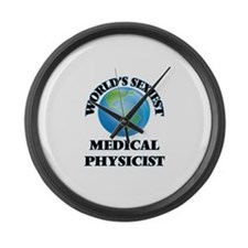World's Sexiest Medical Physicist Large Wall Clock