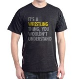 Wrestling Mens Classic Dark T-Shirts