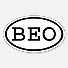 BEO Oval Oval Decal