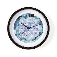 Creativity Affirmation Wall Clock