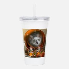 Funny Rescued cats Acrylic Double-wall Tumbler