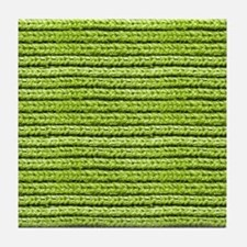Bright Chartreuse Apple Green Sweater Tile Coaster