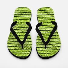 Bright Chartreuse Apple Green Sweater K Flip Flops