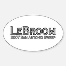 LeBroom San Antonio Sweep Oval Decal