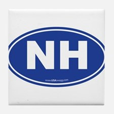 New Hampshire NH Euro Oval Tile Coaster