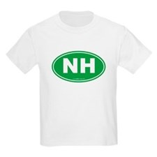 New Hampshire NH Euro Oval T-Shirt