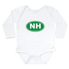 New Hampshire NH Euro Long Sleeve Infant Bodysuit