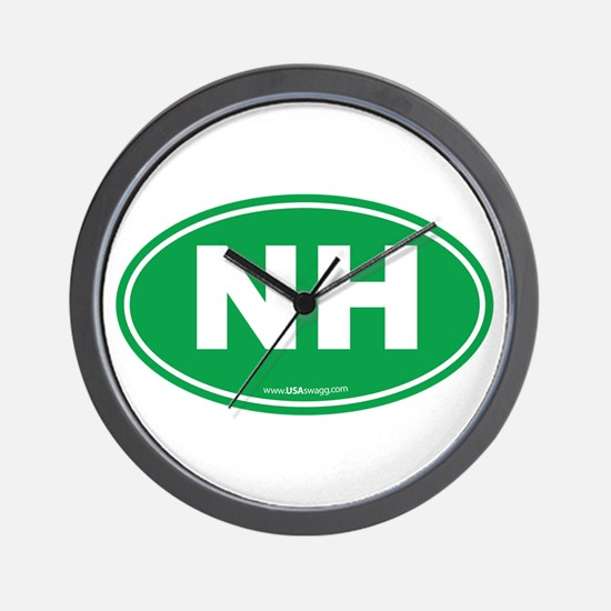 New Hampshire NH Euro Oval Wall Clock