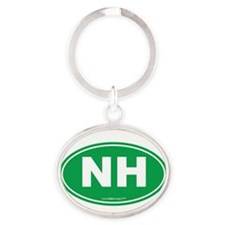 New Hampshire NH Euro Oval Oval Keychain