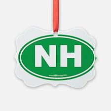 New Hampshire NH Euro Oval Ornament