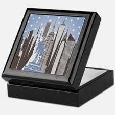 Nyc Snowflakes Keepsake Box