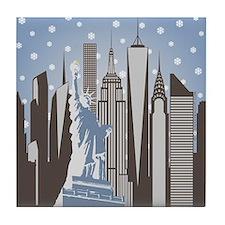 Nyc Snowflakes Tile Coaster