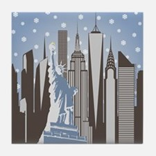 Nyc Snowflakes Tile Coaster