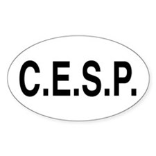 C.E.S.P. Oval Decal