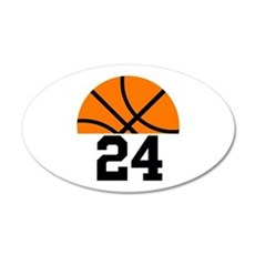 Basketball Player Number Wall Sticker