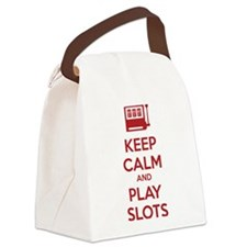 Keep Calm And Play Slots Canvas Lunch Bag