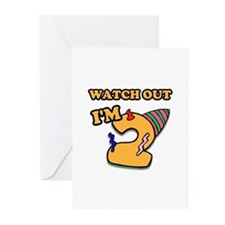 Turning 2- watch out Greeting Cards (Pk of 10)