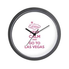 Keep Calm And Go To Las Vegas Wall Clock