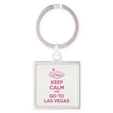 Keep Calm And Go To Las Vegas Square Keychain