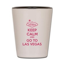 Keep Calm And Go To Las Vegas Shot Glass