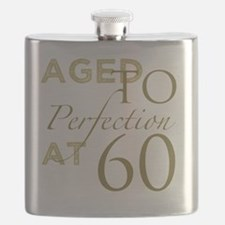 60th Birthday Aged To Perfection Flask