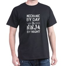 Mechanic by day ninja night T-Shirt