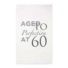 60th Birthday Aged To Perfection 3'x5' Area Rug