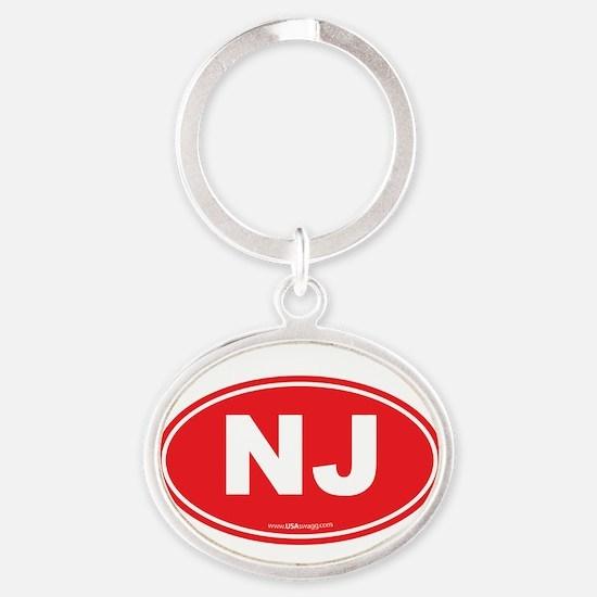 New Jersey NJ Euro Oval Oval Keychain