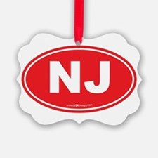 New Jersey NJ Euro Oval Ornament