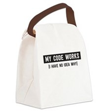 My code works no idea why Canvas Lunch Bag