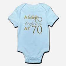 70th Birthday Aged To Perfection Body Suit