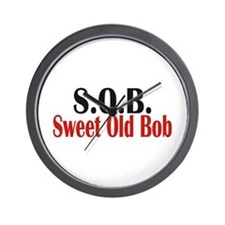 Sweet Old Bob - SOB Wall Clock