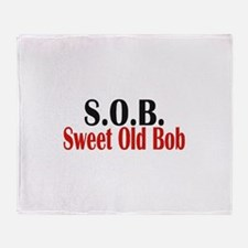 Sweet Old Bob - SOB Throw Blanket
