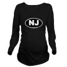 New Jersey NJ Euro O Long Sleeve Maternity T-Shirt