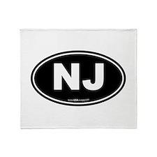 New Jersey NJ Euro Oval Throw Blanket
