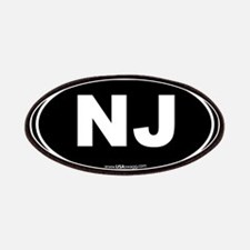 New Jersey NJ Euro Oval Patches