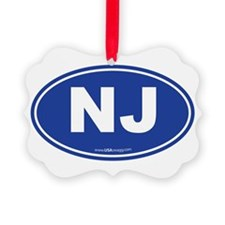 New Jersey NJ Euro Oval Ornament