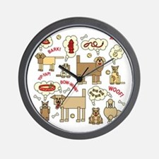 What Dogs Think Wall Clock