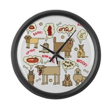 What Dogs Think Large Wall Clock