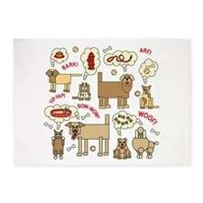 What Dogs Think 5'x7'Area Rug